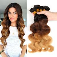 Ombre Brazilian Body Wave 1 Bundles Weave Weft 100% Virgin Human Hair Extensions
