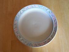 Tienshan Stoneware CALAIS Set of 3 Dinner Plates Pink Blue Floral Rim