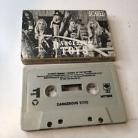 RARE OOP Dangerous Toys CASSETTE TAPE Scared REMIX +1 hair rock metal Watchtower