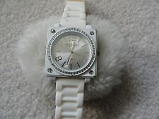Joan Rivers Classics Quartz Ladies Watch - White with White Band