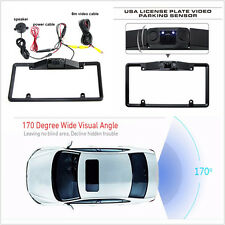 Car License Plate Frame Parking Sensor Radar Rearview Backup Camera Night Vision
