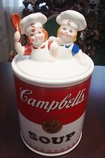 "Vintage Campbells Soup Kids Boy Girl Cookie Jar, NIB, 12"" tall[4]"