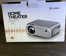Bomaker Home Theater Led Projector Native 720p Wireless Open Box‼�🌟✅✅