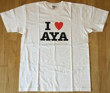 New AYA HIRANO t shirt L seiyuu singer idol anime Haruhi Suzumiya Lucky Star