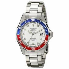 Invicta 17047 Gent's White Dial Steel Bracelet Quartz Dive Watch