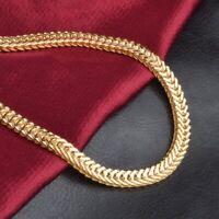 hommes bijouterie 18 k plaqué or COLLIER POUR HOMME GROS Chaîne Large 6mm 50cm