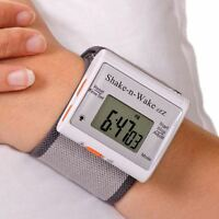 Shake n Wake Silent and Vibrating Travel Alarm Clock Wrist Watch Deaf Aid