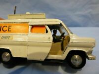 Vintage Dinky Toys Ford Transit Van Police Accident Unit With Driver Rare Toy