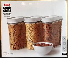 OXO Good Grips 3 Piece POP Cereal Dispenser Set 3.4 Qt / 3.2 L Each BPA Free NEW