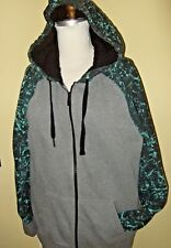 Fox Racing Men's Traxion Sasquatch Lined Fleece Hoodie Hooded Sweatshirt L GRAY