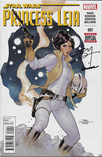 Star Wars Princess Leia #1 signed by artists Terry and Rachel Dodson first issue