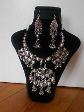Parure, Collier Tribal et Boucles d'oreille ,  Artisanat Inde,  Kutch Gujarat 13