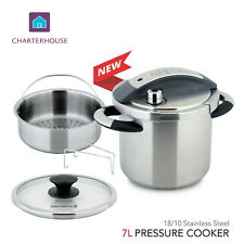 Pressure cooker 7L,2-In-1 stock pot,Auto pressure release 18/10 stainless steel