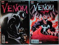 VENOM #164 #165 NM first BABY SLEEPER SYMBIOTE Marvel Comics NATIVITY first host