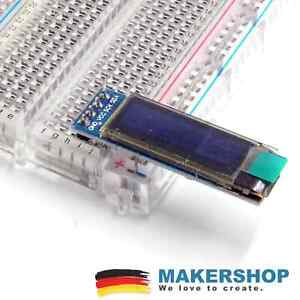 Mini 0.91 Zoll OLED SSD1306 Display I2C IIC Arduino Raspberry 128x32 weiss