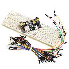 3PCS/Lot 3.3V/5V MB102 power module+830 points Breadboard +65Pcs jumper Wire Kit