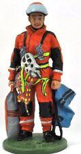 "Firefighter Figurine Fireman Special Unit Germany Lead Del Prado 1/32 2.75"". B66"