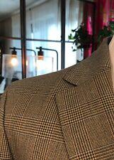 NEW! HACKETT Men's Jacket Wool Brown Prince of Wales British Blazer 40R $750