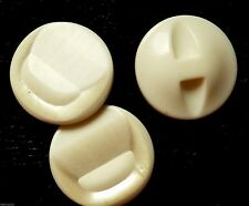 mercerie ancienne 3 boutons blancs style nacre ☺buttons BRUN