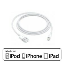 Lightening Charging Cable - USB Cable Charger 1meter - White - iPhone iPad iPod
