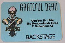 Grateful Dead Backstage Pass 10-18-84 The Meadowlands CT - Rick Griffin artwork