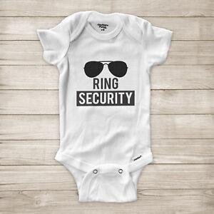 Ring Security Bearer Proposal Wedding Rehearsal Bridal Gift Baby Infant Bodysuit
