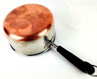 Vintage 1801 Revere Ware 2 QT Quart Sauce Pan Pot Copper Clad Bottom No Lid