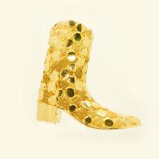 Southwestern Handmade Solid 14k Gold Cowboy Boot  Bolo Tie Marked NOVA 14K