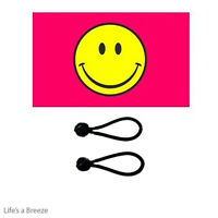 Yellow Banner For Telescopic Pole SMILEY FACE FLAG WINDSOCK 5FT 150cm