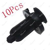 100pcs 10X10mm Dia Car Plastic Rivet Bike Fairing Trim Clip Push-in Type Bumper