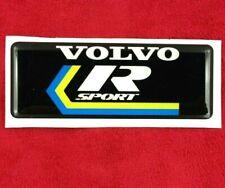 Volvo R Sport badge emblem. 80mm x 30mm.  240 242 343 345 850 T5 T5-R etc     G2
