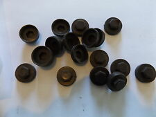 100 x HEXAGONAL TEK SCREW 16mm ROOFING & CLADDING SCREW COVER CAP - BROWN