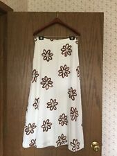 "Women's Authentic Oilily ""Xiloy"" White Lined Skirt With Floral Print Size 40"