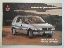 MITSUBISHI SPACE RUNNER & SPACE WAGON orig 1996 UK Mkt Sales Brochure