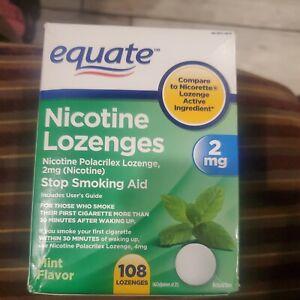 EQUATE Stop Smoking Aid 2mg Mint Nicotine Lozenges