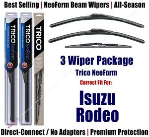 3pk Wipers Front & Rear NeoForm 1991-2004 Isuzu Rodeo/Rodeo Sport 16190x2/30130