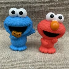 2x Fisher Price Mattel Sesame Stree Little People Elmo & Cookie Monster Set Toy
