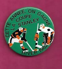 RARE VINTAGE HOCKEY 1982 STANLEY CUP WINNER PROMO  PINBACK  (INV# C0485)