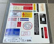 Mercedes-Benz W126 C126 Decal Set Stickers For All Models Engines Best Quality