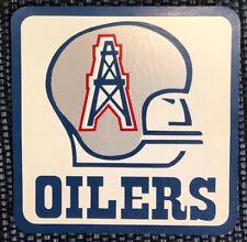 NEW UNUSED RARE Vintage 1972-79 Houston Oilers Decal Sticker Helmet