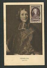 FRANCE MK 1947 ERZBISCHOF FENELON MAXIMUMKARTE CARTE MAXIMUM CARD MC CM d7124