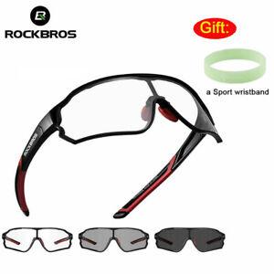 ROCKBROS Bike Photochromatic Men's Glasses Cycling Full Frame Sports Sunglasses