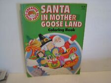 SANTA CLAUS IN  MOTHER GOOSE LAND  Vintage Coloring Book 1985