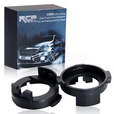 2x H7 LED Headlight Bulb Base Holder Socket Adapters Kit For Hyundai Elantra Kia