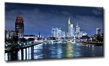 Leinwand Kunst Bild Frankfurt Nacht Sturm Skyline Stil