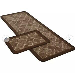 Spanish Tile Runner and Doormat Set - Chocolate
