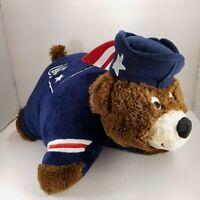 "New England Patriots Pillow Pets NFL Mascot Large stuffed toys Plush Bear 18"" L"
