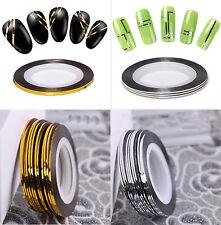 Roll Metallic Gold & Silver Stripe Striping Tape Nail Art Decoration, UK Seller