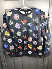 NBA UNK Black Team Logos Size XL  Sweater