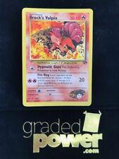 Pokemon Gym Challenge Wizards W Stamp Promo BROCK'S VULPIX 37/132 LP